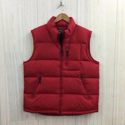 【愛莎&嵐】 HANG TEN 男 紅色立領羽絨外套/L 1091006