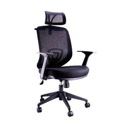 螞蟻雄兵 CAT-51A 網布辦公椅(黑色款) 電腦椅 職員椅 會議椅 電競椅 旋轉扶手 透氣耐坐 人體工學 頭枕 椅子