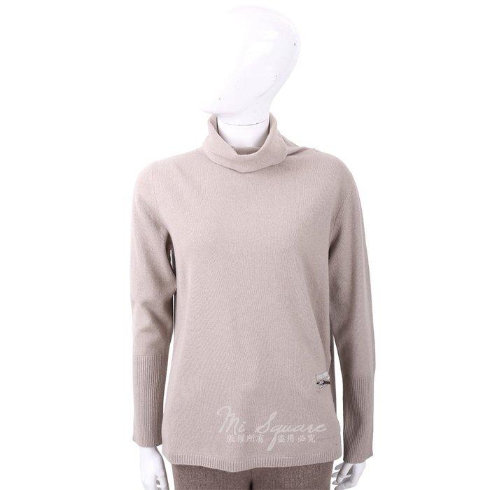 米蘭廣場 FABIANA FILIPPI 坑條細節燕麥色高領美麗諾羊毛衫 1810026-28