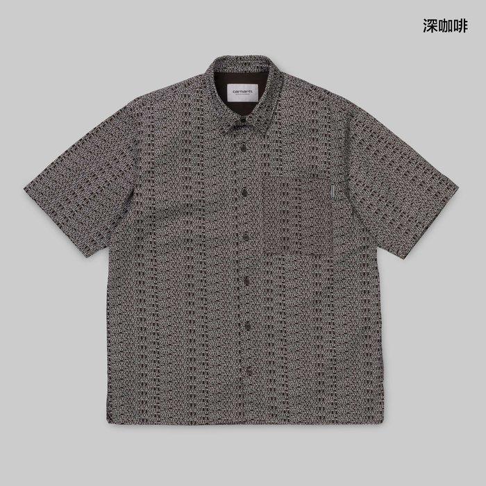 【Shopa】預購 Carhartt WIP 2019 春夏 Typo 滿版 logo 短袖 襯衫 2色