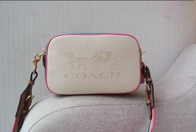 我愛名牌COACH包 美國100%正品【清倉低價出售購買兩件免運】72704 熱賣款拼色雙拉鏈相機包 女士單肩斜挎小方包