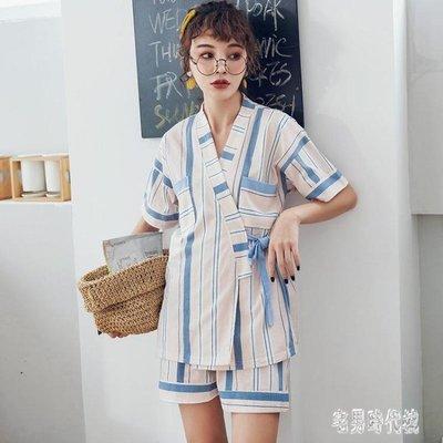 月子服 大碼孕婦睡衣女夏季純棉短袖薄款胖mm200斤和服家居服套裝 DJ9556