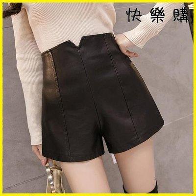 短皮裙  皮褲百搭高腰包臀PU皮短褲外穿內搭褲