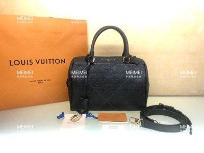 30年老店 預購 LOUIS VUITTON Bandoulière Speedy 25 公分 皮革 黑色 手提包 肩背包 M42401