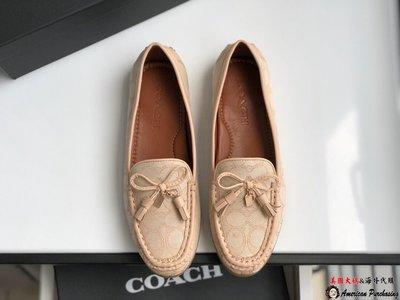 美國大媽代購COACH 寇馳 新款經典紋 休閒豆豆鞋 平底鞋 顏色2 美國代購