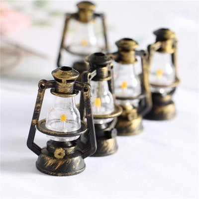 金喜盒Dollhouse微縮食玩造景拍攝道具配件裝飾品復古煤油燈DIY材料擺件小玩窩