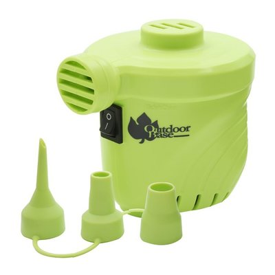 【山野賣客】OutdoorBase 颶風充氣馬達-蘋果綠 28293 PSI出氣量UP 充氣床馬達 可洩氣 電動充氣幫浦