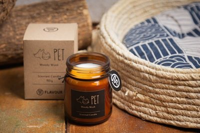 FLAVOUR 居家香氛植粹蠟燭-150g FLV環保手工植物性大豆臘 療癒舒壓芳香除臭