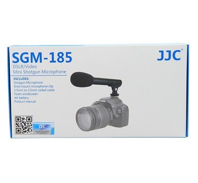 JJC  SGM-185立體聲麥克風 新聞採訪錄音 單眼麥克風 攝像機相機麥克風EOS M M2, 6D, 5D2