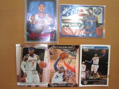 網拍讀賣~Carmelo Anthony~尼克隊球星~油畫限量卡/100~USA限量卡/299~亮面~普特卡~共5張~