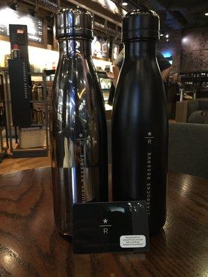 Starbuck 星巴克限量 典藏黑Reserve Swell  R字 不鏽鋼保溫瓶 三個顏色