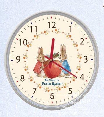~*歐室精品傢飾館*~Peter Rabbit 彼得兔 比得兔 鄉村風格 鐘 靜音 掛鐘 時鐘 蘋果 居家 ~新款上市~