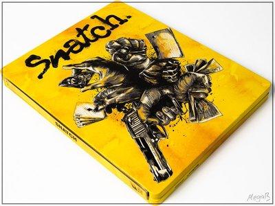 毛毛小舖--藍光BD 偷拐搶騙 Snatch 限量鐵盒版 蓋瑞奇 布萊德彼特