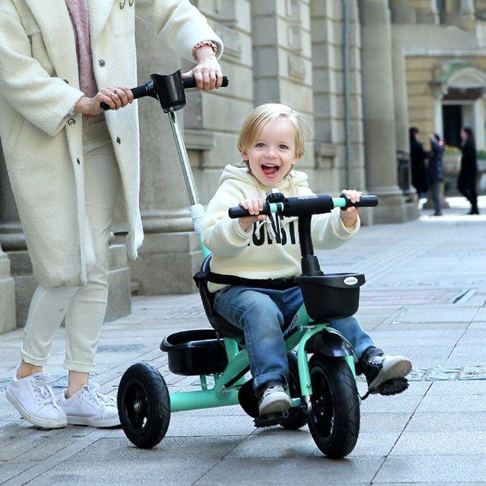 5Cgo【樂趣購】566279675256嬰幼兒童三輪車腳踏車嬰兒家庭手推車寶寶自行車小孩2-6歲童車平衡車扭扭車大號