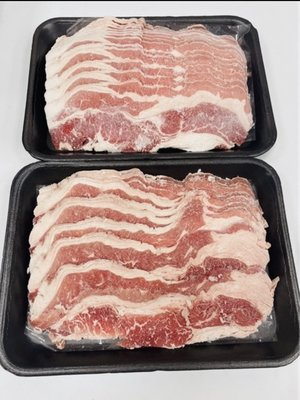 『極鮮味』【牛五花火鍋肉片/培根牛火鍋肉片300g/胸腹肉(非重組肉)】海鮮直播、批發零售、筵席食材。※年菜最佳首選※