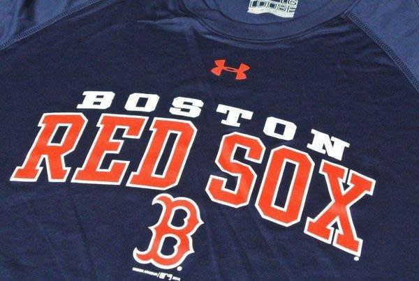 貳拾肆棒球-美國帶回Under Armour 波士頓紅襪芬威球場限定短袖練習衣