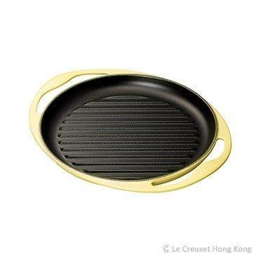 Le Creuset鑄鐵雙耳圓烤盤 25cm 含羞草黃 特價3280元