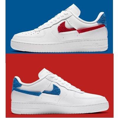 【公司貨】NIKE AIR FORCE 1 AF1 白藍紅 紅藍 鴛鴦 斷勾 男女鞋 DC1164-100