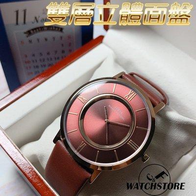 C&F 【IBSO】簡單時刻真皮表 手錶 男錶女錶