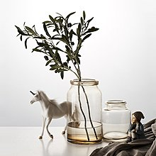 〖洋碼頭〗北歐透明玻璃花瓶擺件創意幹花插花裝飾品現代簡約家居客廳小擺設 fjs637