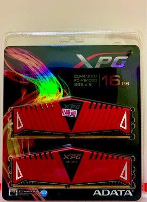 威剛 8G*2=16G DDR4-3000 ZI XPG 超頻版含散熱片