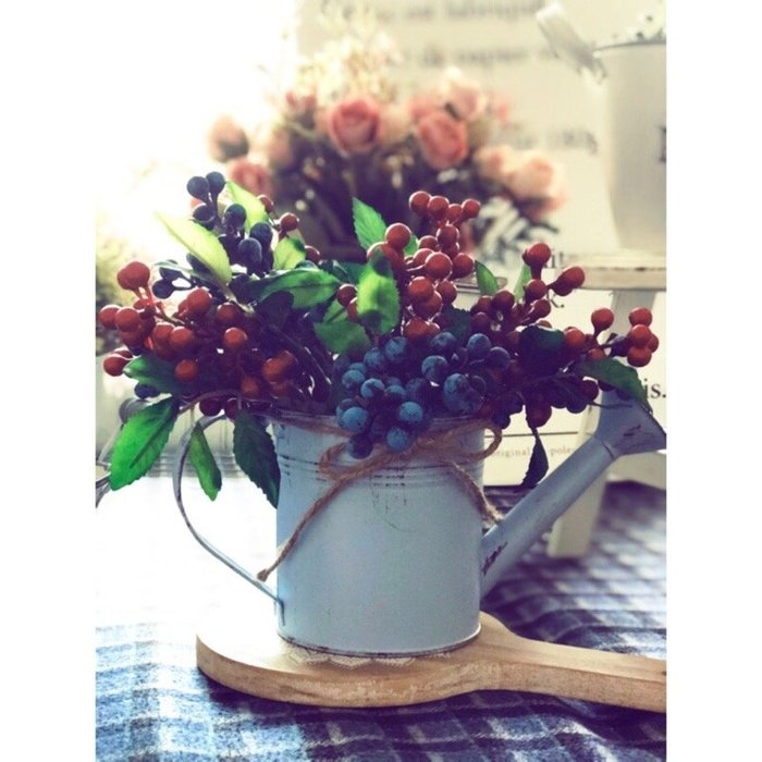 澆水器 灑花器 花灑 鐵皮 花園 雜貨 復古 批發 馬口鐵 裝飾 花器 藍色 花瓶 小花瓶 北歐風 佈置 裝飾 鄉村風