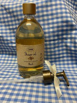 專櫃現貨 SABON沐浴油 (麝香)玫瑰茶語)(經典PLV)(茉莉花語) 500ml 附壓頭