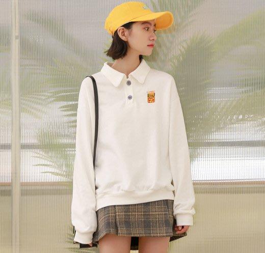 SeyeS  基本款設計感百搭刺繡長袖polo衫