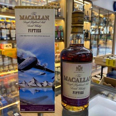 Macallan Single Highland Malt Scotch Whisky Travel Series Fiftes-1950,S 50cl,40%