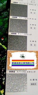 【振通油漆公司】日本RCOK進口原色母(純色母) 烤漆 077-4007.4009.4008.0093 粗雪銀.星光銀.