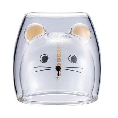 星巴克 金鼠報喜雙層玻璃杯 starbucks 2020/1/8上市