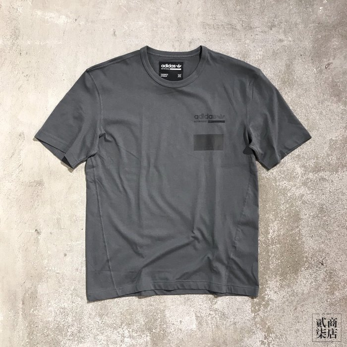 (貳柒商店) adidas Kaval Graphic Tee 男款 灰色 三葉草 短袖 棉質 DV1910