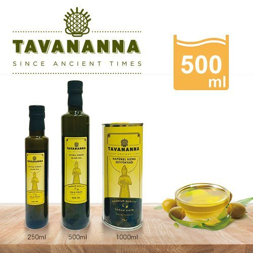 【TAVANANNA塔瓦納】100%冷壓初榨橄欖油500ml-土耳其原裝原瓶