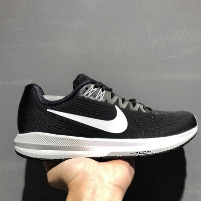 NIKE WMNS AIR ZOOM STRUCTURE 21 黑白 慢跑鞋 訓練 女鞋 904701-001