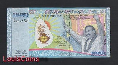 【Louis Coins】B1238-SRI LANKA-2009斯里蘭卡紀念紙幣,1.000 Rupees含冊