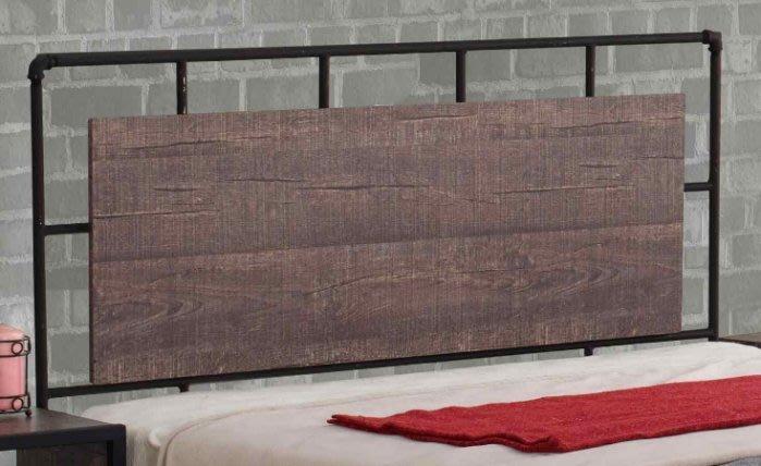 【DH】商品貨號-513-2商品名稱《加貝》5尺工業風雙人床頭片(圖一)台灣製可訂做。主要地區免運費