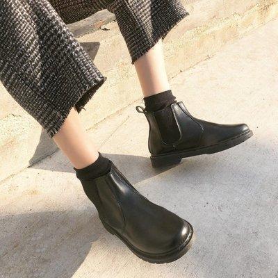 ☜男神閣☞2018ulzzang正韓新款英倫風馬丁靴學生平底靴百搭短靴女靴女鞋