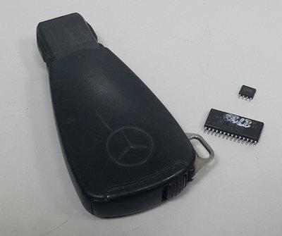 BENZ 中華賓士原廠 1998- 遙控器 鑰匙 (葫蘆鎖 黑 大支) 0005450000
