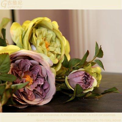仿真花玫瑰 家居仿真飾品裝飾花 花瓶花器插花 假花絹花 擺放花卉