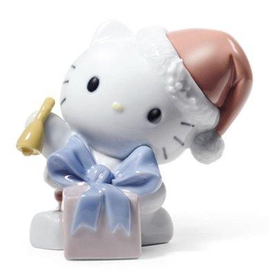 鼎飛臻坊 Hello Kitty 凱蒂貓  Lladro純手工製作 聖誕造型 陶瓷 娃娃 擺飾  日本正版