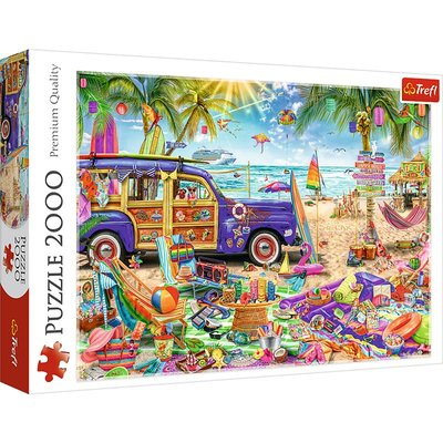 Trefl 進口拼圖2000片成年減壓益智玩具禮品 熱帶假期27109