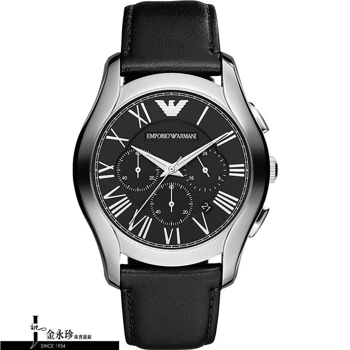 金永珍珠寶鐘錶* ARMANI錶 原廠真品 經典三眼計時 AR1700 對錶 生日 情人節禮物 送鍍膜*