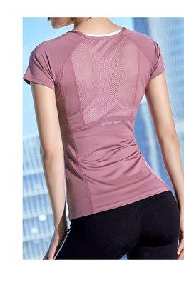 短袖上衣健身衣 瑜伽服 運動跑步健身修身短袖T恤圓領速乾慢跑瑜伽運動服【S~XL】透氣弹力速乾面料