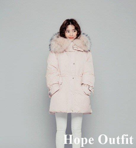 現貨特價!韓國 CHUU大毛領修身羽絨外套 極保暖!高品質長版羽絨外套  防風防沾絨 韓版外套  羽絨外套 羽絨衣 雪衣