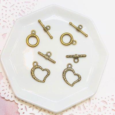 首飾DIY材料 古銅色 手鏈頸鏈扣 一包4套 串珠 配件 吊飾 必備