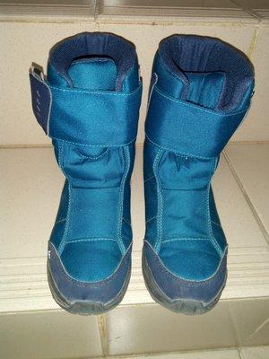 (2019年款式)迪卡儂 兒童雪鞋 兒童雪靴 藍色 34號