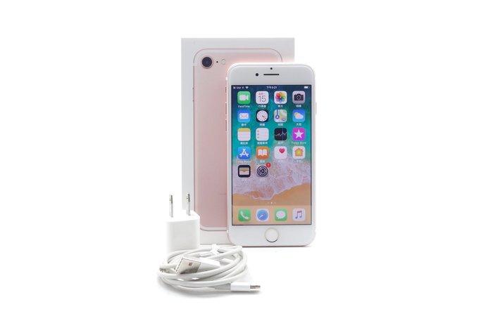 【台中青蘋果】Apple iPhone 7 玫瑰金 128G 128GB 二手 4.7吋 蘋果手機 #39948
