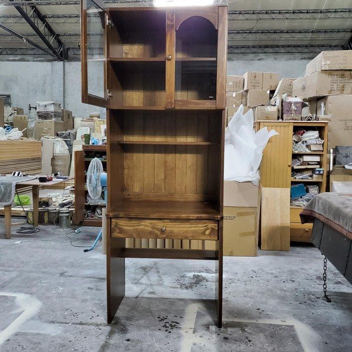 美生活館 訂製家具 鄉村風格 全紐西蘭松木 古銅色 書桌書櫃萬用櫃 可一起購買也可拆買 收納 展示使用