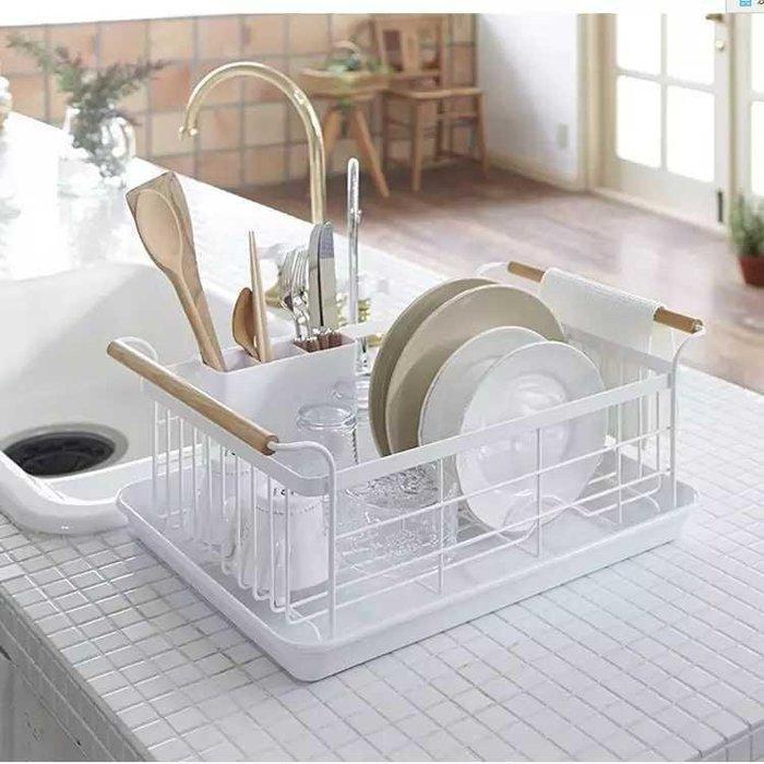 日系簡約白色碗盤瀝水架收納架【 蘇菲亞精品傢飾】