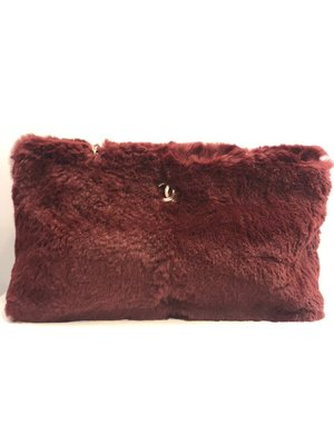 【RECOVER 名品二手】CHANEL 酒紅色兔毛肩背包 老香 古董包 Vintage 100% 香奈兒 真品